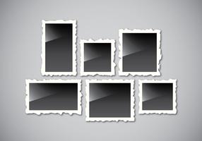 Realistischer Retro-Foto-Rahmen vektor