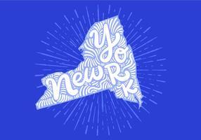 New york staatsbeschriftung vektor