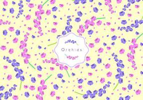 Orchids Disty Pattern Gratis Vector