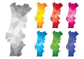 Polygonal Portugal Karten vektor