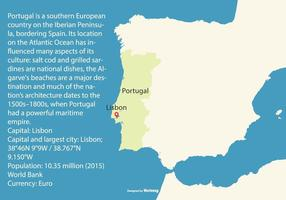 Flache Karte von Portugal vektor