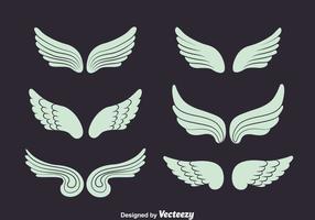 Ängel vingar insamlingsvektor