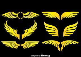 Angle Wings auf schwarzen Vektoren