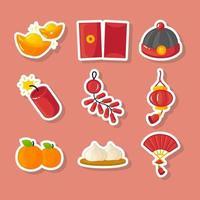 klistermärken för kinesiskt nyår