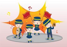 Marching Band für Kinder vektor