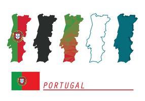 Portugal Kartor Vektor Set