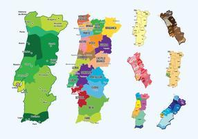 Portugal Karte Vektor