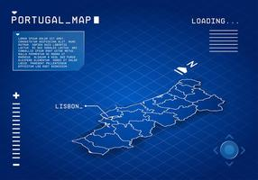 Portugal Karte Digital Free Vector