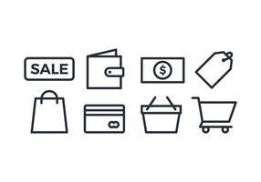 Shopping ikonuppsättning