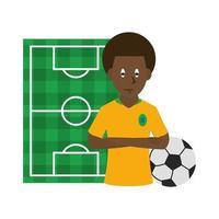 Sportikone mit Fußballspieler vektor