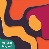 papper klippt ut bakgrund med 3d-effekt