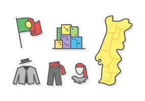 Freie hervorragende Portugal Reisekarte Vektoren
