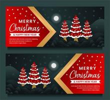 god jul och gott nytt år banner mall