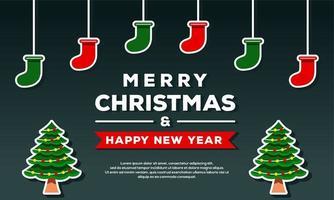 Frohe Weihnachten und ein frohes neues Jahr Hintergrund