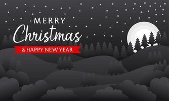 Frohe Weihnachten und ein frohes neues Jahr Hintergrund vektor
