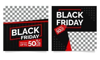 svart fredag post samling mall vektor
