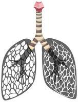 Lungenkrebs-Ikone lokalisiert auf weißem Hintergrund