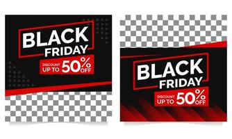 schwarzer Freitag Post Sammlung Vorlage