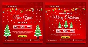 Frohe Weihnachten und ein frohes neues Jahr Hintergrundvorlage vektor