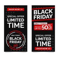 schwarze Freitag Banner Design-Vorlage vektor