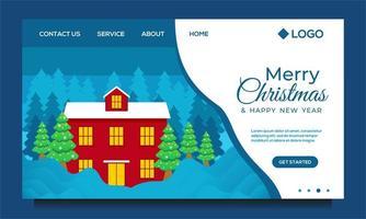 God jul och målsida för gott nytt år vektor