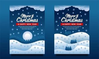 god jul och gott nytt år banners vektor