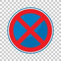 kein Stoppschild isoliert auf transparentem Hintergrund