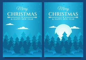 Frohe Weihnachten und Frohes Neues Jahr Banner Vorlage vektor