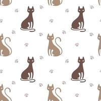 Muster mit Katze vektor