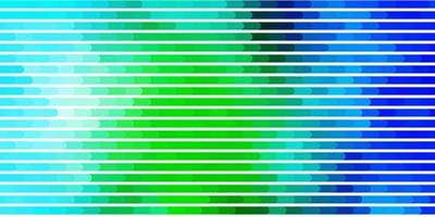 ljusblå, grön mall med linjer. vektor