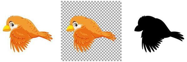 uppsättning av fågel seriefigur