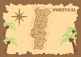 Portugal Karte Hintergrund Vektor