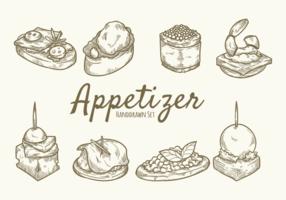 Hand gezeichnet Essen Vorspeise vektor
