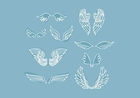 Blå vingar vektor