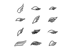 Enkla vingar vektor