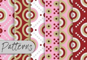 Rosa geometrisk mönsteruppsättning vektor