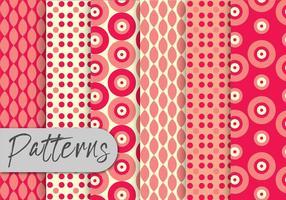Röd geometrisk mönsteruppsättning vektor