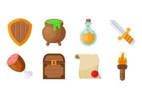 Kostenlose RPG Spiel Symbole Vektor