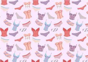 Fri Kvinna Underkläder Mönstervektorer vektor