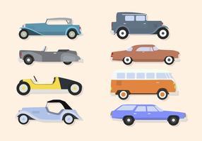 Flache klassische Auto-Vektoren