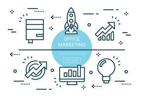 Kostenlose Linear Office Marketing Elemente vektor