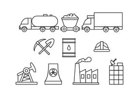 Kostenlose Fabrik und Industrie Line Icon Vector