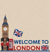 leere Postkarte mit Big Ben London
