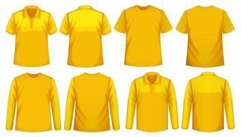 uppsättning olika typer av skjortor i samma färg