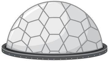 isolerad rymdtornstation på vit bakgrund