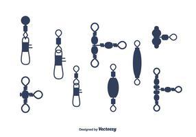 Fiskehantering Vector Set