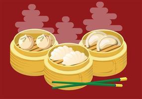 Dumplings vektorkonst vektor