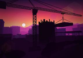 Balken bauen Silhouette freien Vektor