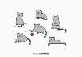 Kleine Katze Vektor Set