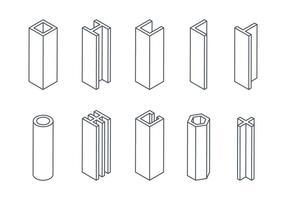 Balken-Icons vektor